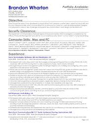 Objectives Examples For Resume by 100 Security Resume Templates Best Solutions Of Information