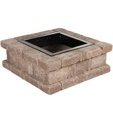 Fire Pit Inserts by Pavestone Rumblestone 38 5 In X 14 In Square Concrete Fire Pit