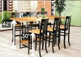 bar height table height what is the standard height of a dining room table bar height tables