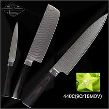 damascus kitchen knives for sale xyj brand damascus kitchen knives 440c damascus steel 8 inch chef