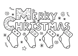 saying for happy merry christmas coloring pages for kids 7b