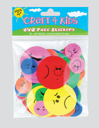 4 kids eva faces sold as a pack of 12