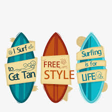 summer decoration hand painted color surfboard vector summer decoration seaside