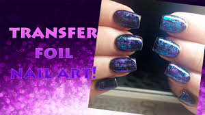 transfer foil and gelish nail art tutorial youtube