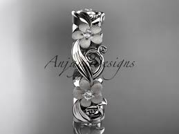 flower engagement rings platinum flower engagement ring wedding band adlr191b