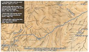 Map Of Canaan Bibleplaces Blog Mount Halak On The Southern Border Of Canaan Judah