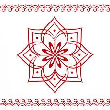hindu floral ornament vector free
