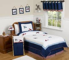 Childrens Twin Comforters Red White And Blue Vintage Aviator Airplane Childrens Bedding 4