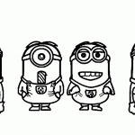 despicable coloring pages kids free printable minion