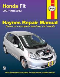 honda fit 2007 2013 haynes repair manual usa haynes publishing