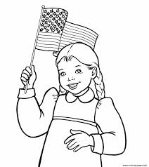 waving american flag coloring pages printable