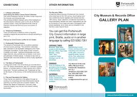 design of portsmouth city museum floor plan and leaflet