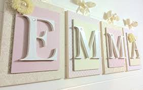 Wood letter wall decor for well nursery wall letters wooden