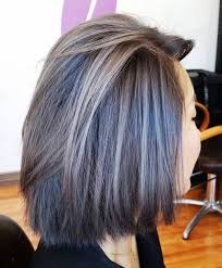grey hair highlights and lowlights 40 ideas of gray and silver highlights on brown hair