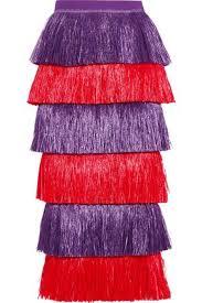 where to buy raffia fringed raffia paneled cotton canvas midi skirt stella jean