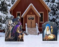 Nativity Outdoor Decorations Outdoor Nativity Set Etsy