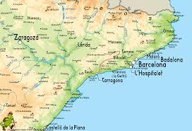 Tarragona Spain Map by Bellprat Montserrat La Mussara