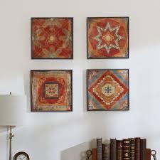 Moroccan Pattern Art Moroccan Wall by Park Moroccan Tile Gel Coat 4 Pc Wall Art Set