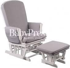 White Nursery Rocking Chair Quax Gliding Chair White Grey Cushions Nursery Rocking Chairs