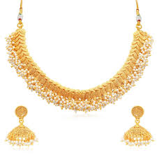plated choker necklace images Buy sukkhi excellent jalebi gold plated choker necklace set for jpg