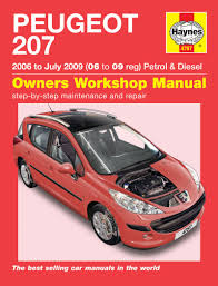 peugeot 207 petrol u0026 diesel 06 july 09 haynes repair manual
