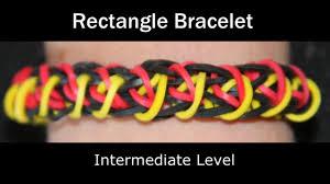 rainbow loom rectangle bracelet youtube