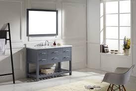 virtu usa caroline estate 48 single bathroom vanity set in grey