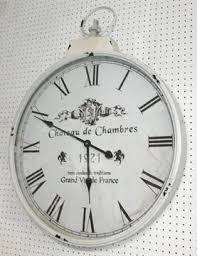 chateau de chambres wall clock style marked chateau de chambre white metal