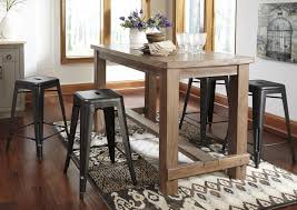 buy ashley furniture pinnadel rectangular counter height table set