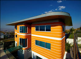 eye catching contemporary residence with orange color hupehome