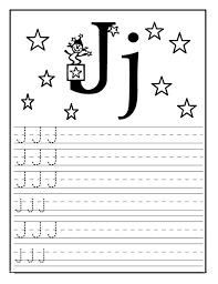 letter j worksheet for kindergarten preschool and 1 u0027st grade