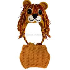 Handmade Baby Halloween Costumes Newborn Knit Lion Costume Handmade Crochet Baby Boy Lion