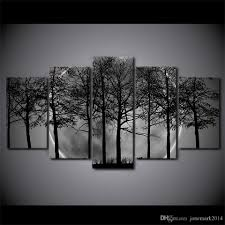 2017 framed hd printed black and white tree forest canvas