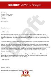 risk of redundancy letter create a risk of redundancy letter
