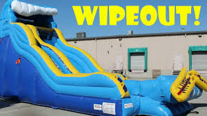 wipeout 19 foot inflatable water slide wet or dry slide