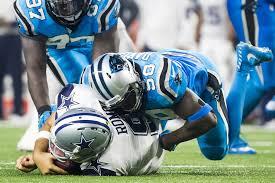 dallas cowboys panthers lb davis on hit that injured