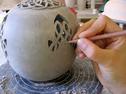 ceramic engraving pottery classes sculpture and painting on pottery classes