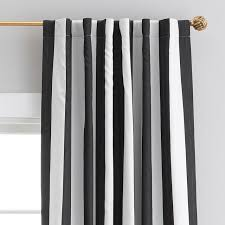 And White Curtains The Emily Meritt Circus Stripe Blackout Drape Pbteen