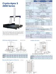 mitutoyo crysta apex s series cnc coordinate measuring machine