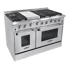 overstock appliances kitchen thor kitchen 48 inch stainless steel professional gas range with 6