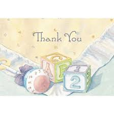 thank you baby shower baby blocks baby shower party thank you cards 24 count target