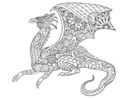 coloring pages dragon tree