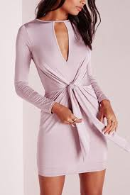 light pink bodycon dress light pink knotted long sleeve bodycon dress 028947
