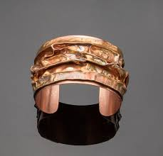 air bracelet air chased copper cuff bracelet quality handcrafted jewelry