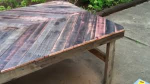 Plans For Wood Patio Table by Diy Project Build A Patio Table From Reclaimed Wood Youtube