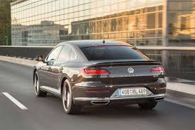 volkswagen arteon price 2019 volkswagen arteon r line rear three quarter in motion 1