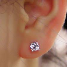 diamond ear studs diamond earrings ebay