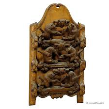 great wood carvings wooden carved letter holder with 6 1900