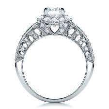 milgrain engagement ring halo filigree milgrain engagement ring vanna k 100097