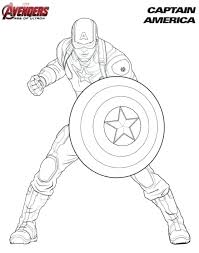 Captain America Coloring Sheets Captain Coloring Pages Avengers Captain America Coloring Page